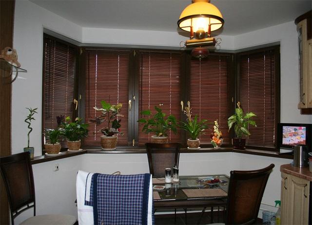 Деревянные ламели с узкими планками для кухни