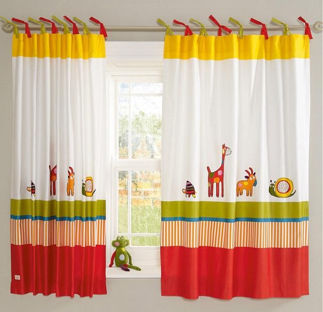 шторы на завязках для детской комнаты