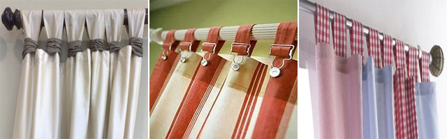 Петли могут быть лаконичными или украшенными шторными аксессуарами
