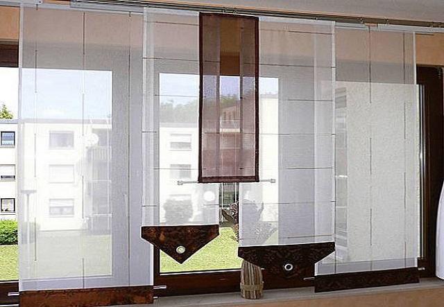 лаконичные вставки и геометрически правильные линии японских штор