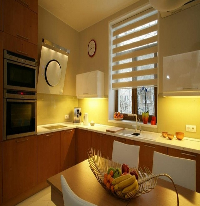Шторы зебра в интерьере современной квартиры