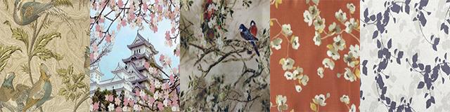 Стилизованные ткани для японских штор