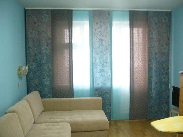 Японские панели в гостинной