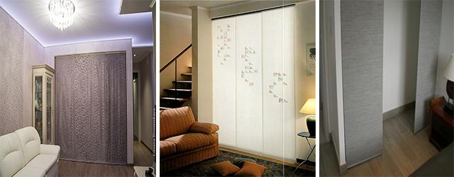 Японские панели можно использовать в качестве дверей для шкафов