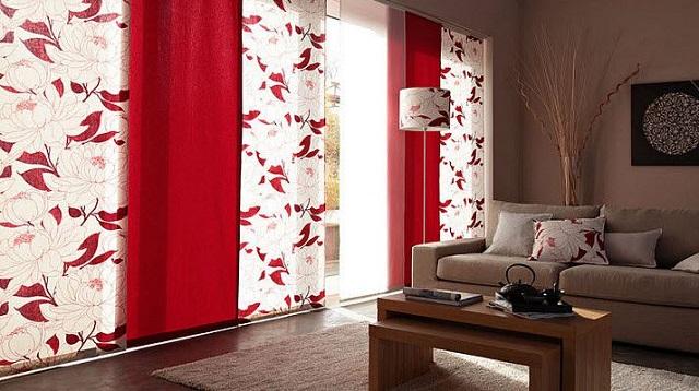 Японские шторы любой обстановке смотрятся свежо и оригинально