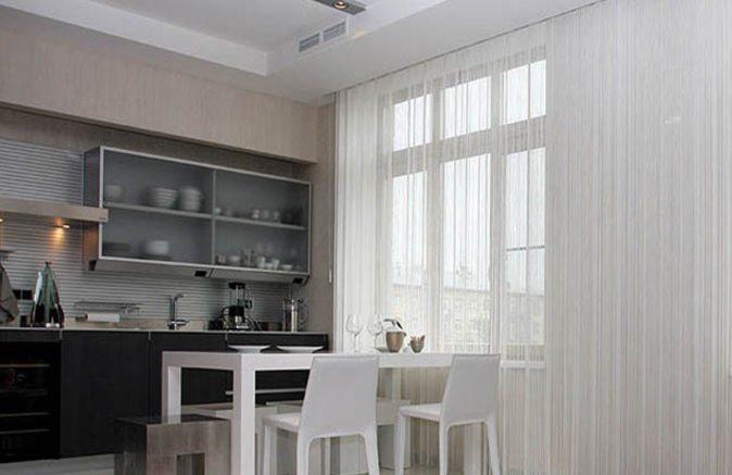белая кисея для кухни