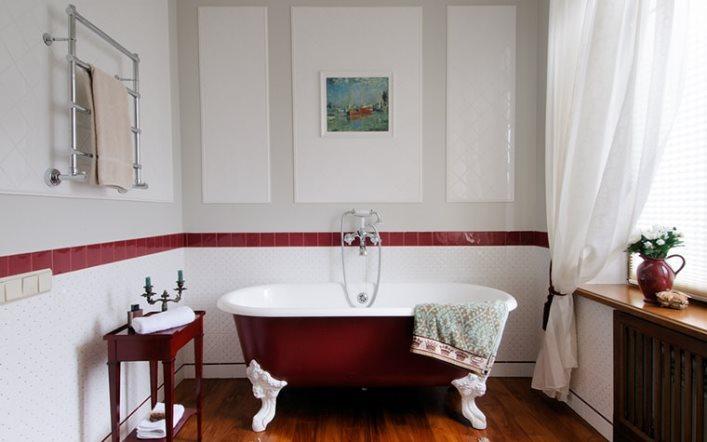 белые занавески в ванной