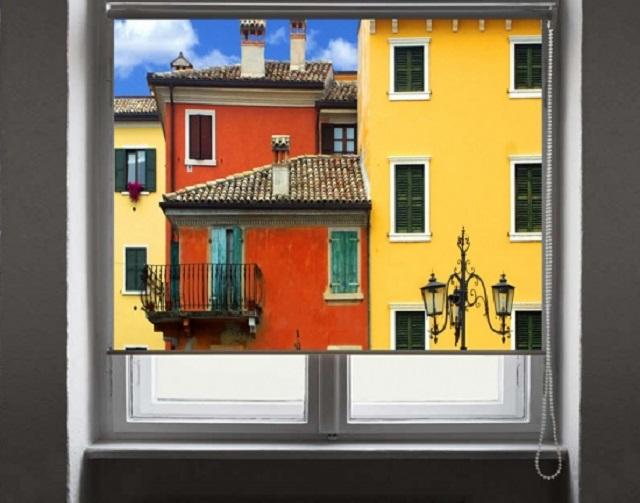 рулонные шторы с фотопечатью вида из окна