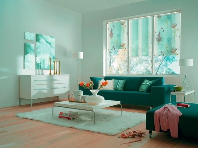 рулонные шторы с фотопечатью в гостинной