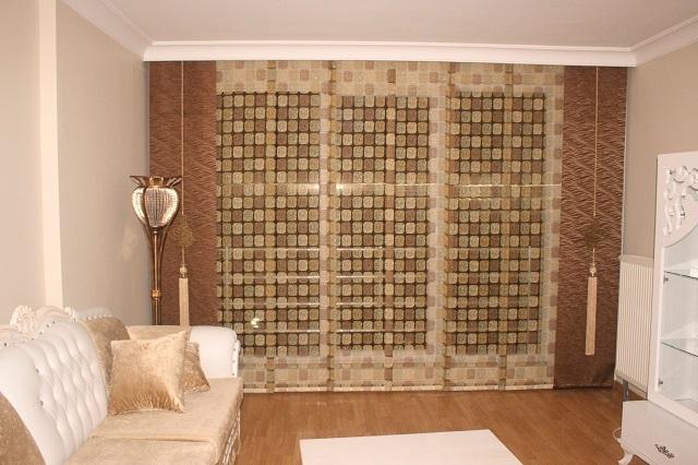 японские шторы в интерьере небольшого зала
