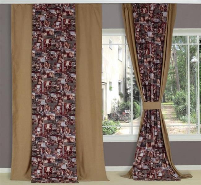 двухцветные шторы с рисунком