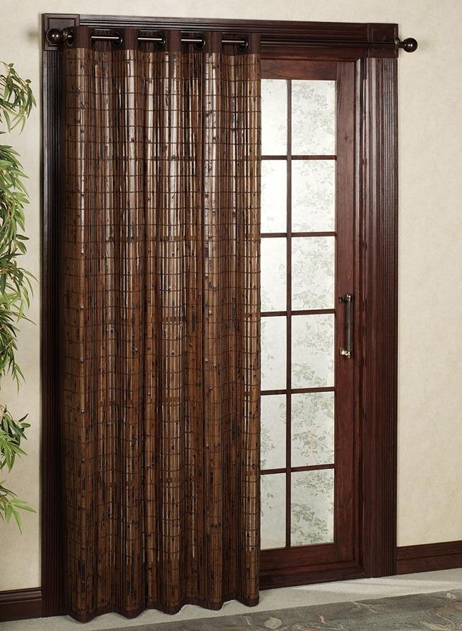 шторы из бамбука на дверной проем