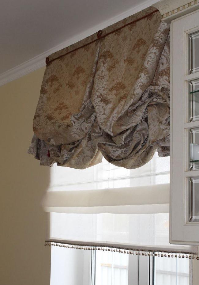 римские и английские шторы вместе