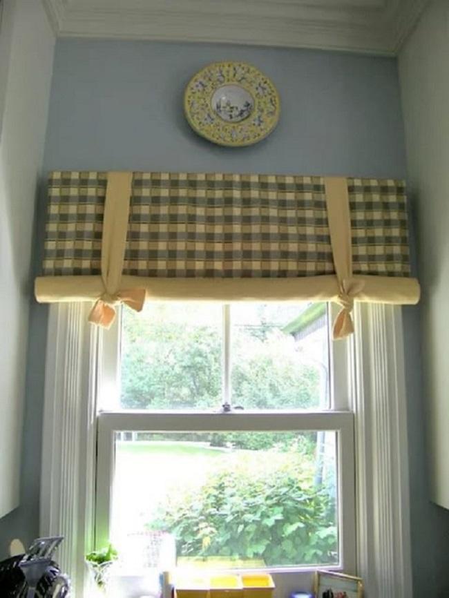 рулонные шторы на деревянные окна своими руками