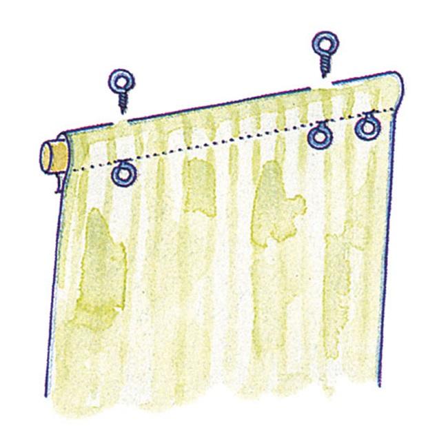второй этап при пошиве рулонной шторы своими руками