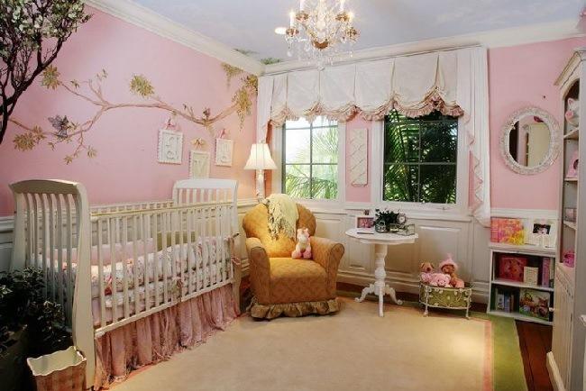 лондонские шторы в детской