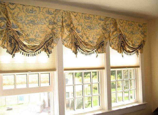 английские шторы и шторы плиссе
