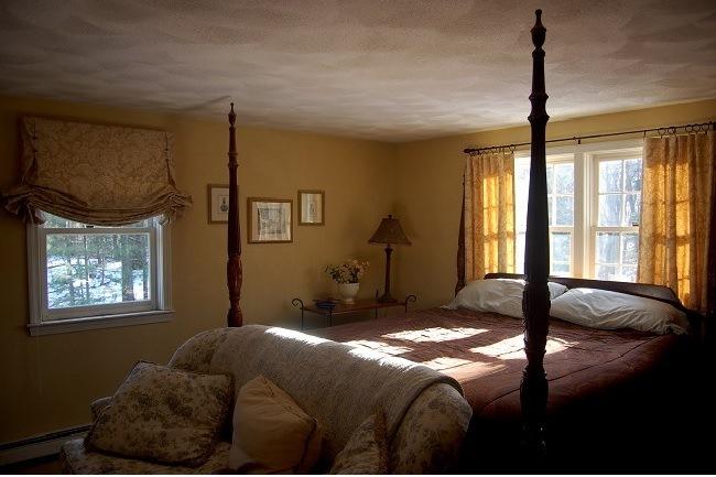 шторы для спальни в английском стиле