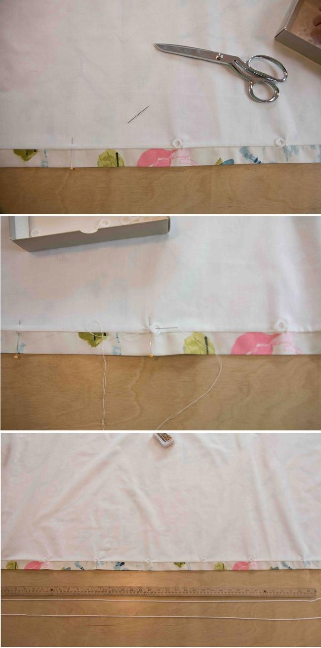 Мягкая римская штора изготовление шаг 5 фото 1