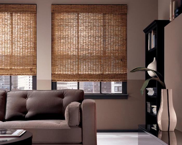 Римские шторы из бамбуковой соломки
