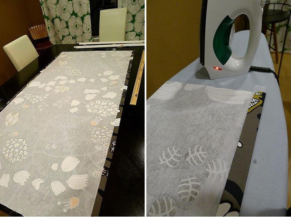 Римские шторы из жалюзи изготовление шаг 2