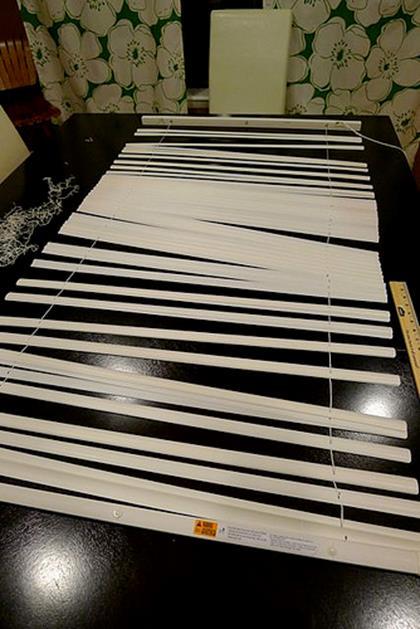 Римские шторы из жалюзи изготовление шаг 3 фото 2