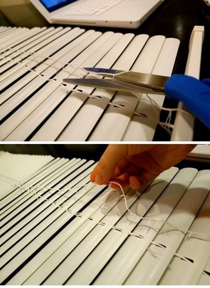 Римские шторы из жалюзи изготовление шаг 3