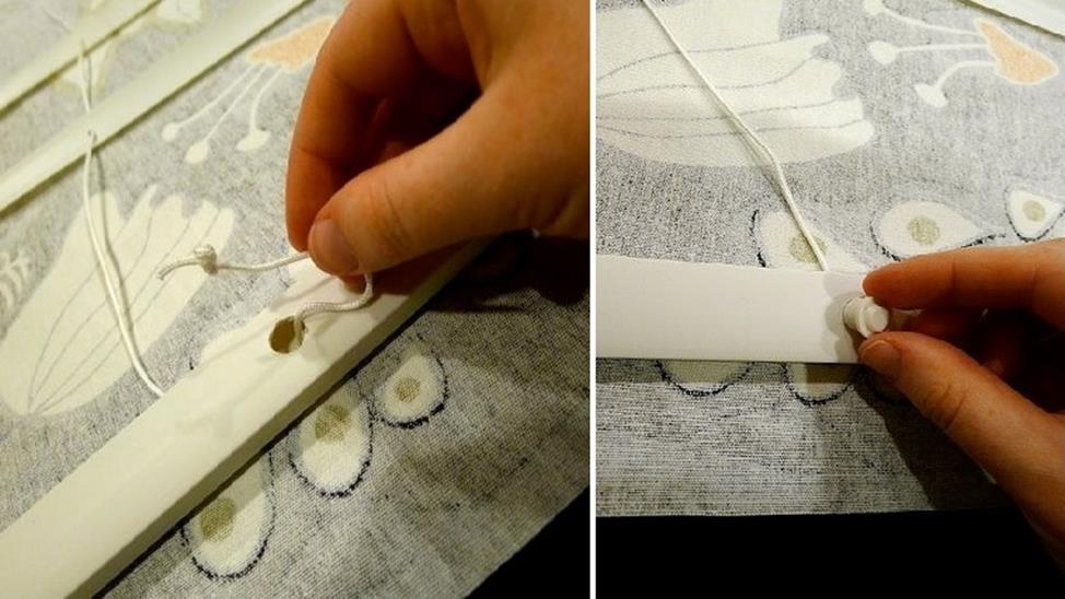 Римские шторы из жалюзи изготовление шаг 4 фото 2