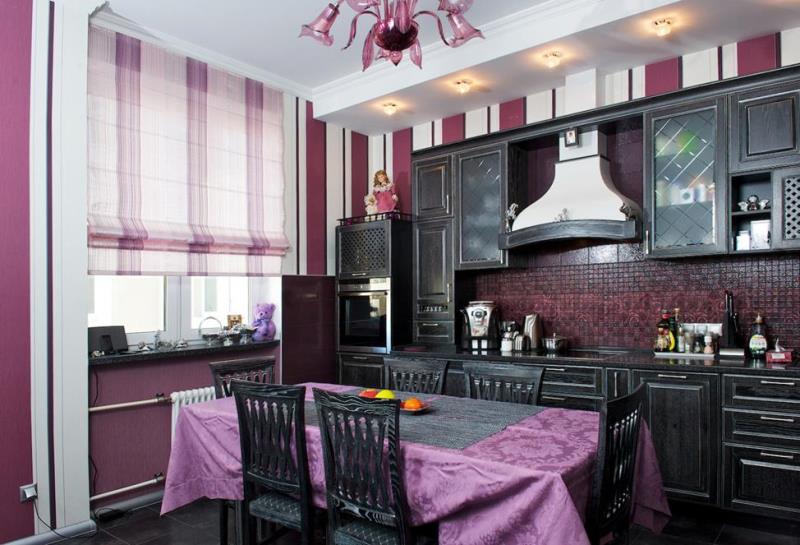 Как выбрать римские шторы на кухню