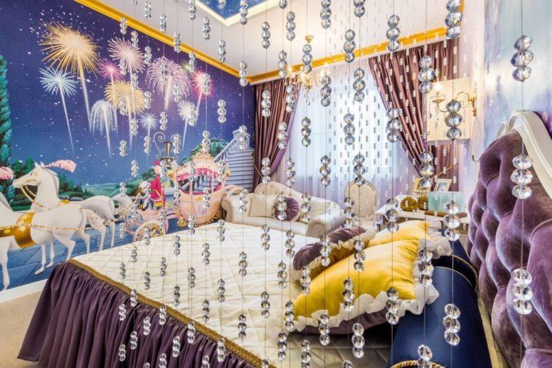 Хрустальные шторы в детской комнате