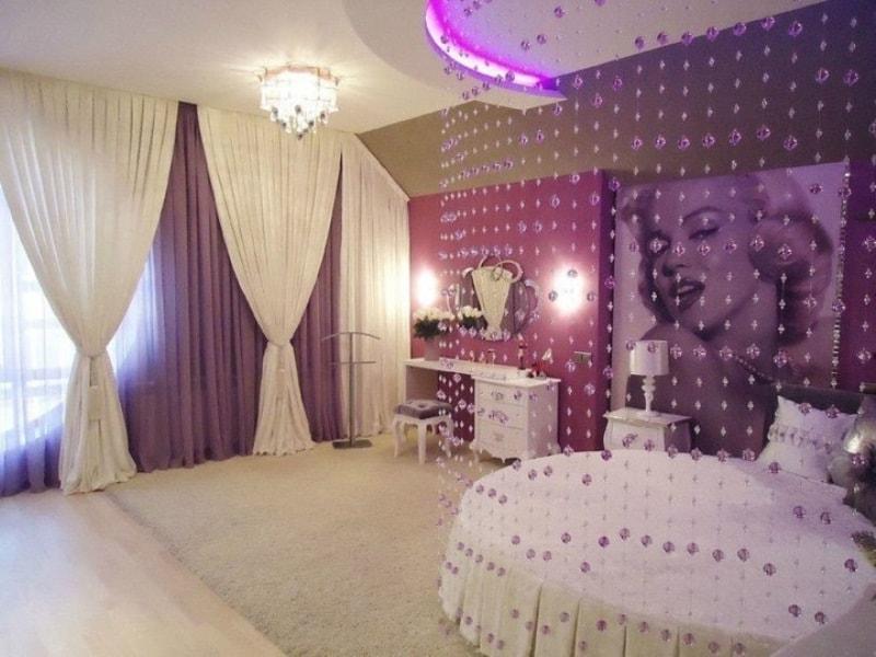 Хрустальные шторы в девичьей спальне