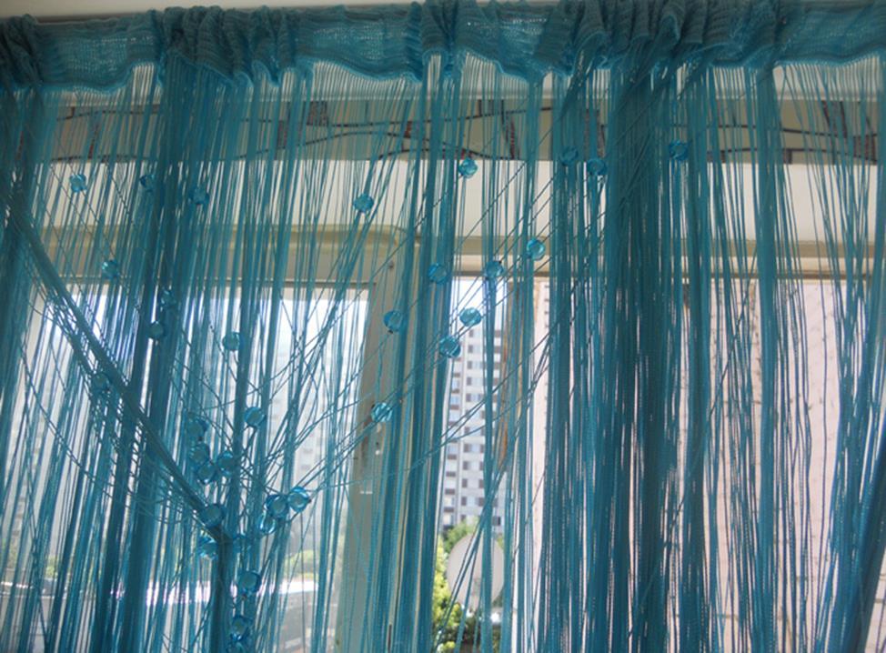 распутываем нитяные шторы