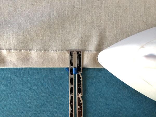 как сшить шторы на подкладке шаг 3