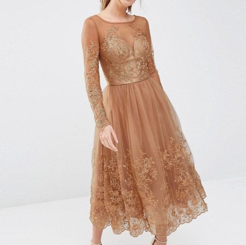платье из тюли