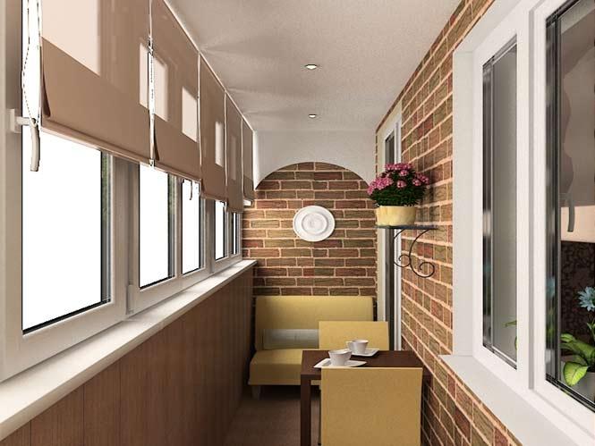 римские шторы на балконе или лоджии