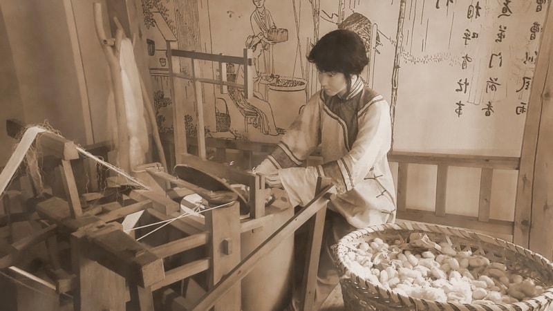 древнекитайский ткацкий станок