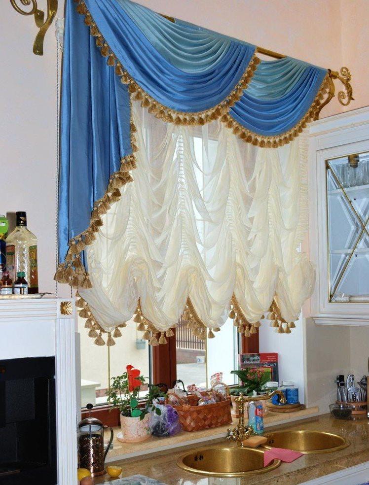 французские занавески на кухне