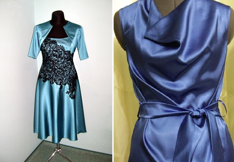 платья из атласного шелка