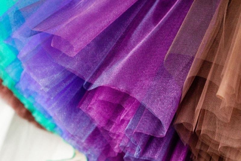 разноцветный фатин