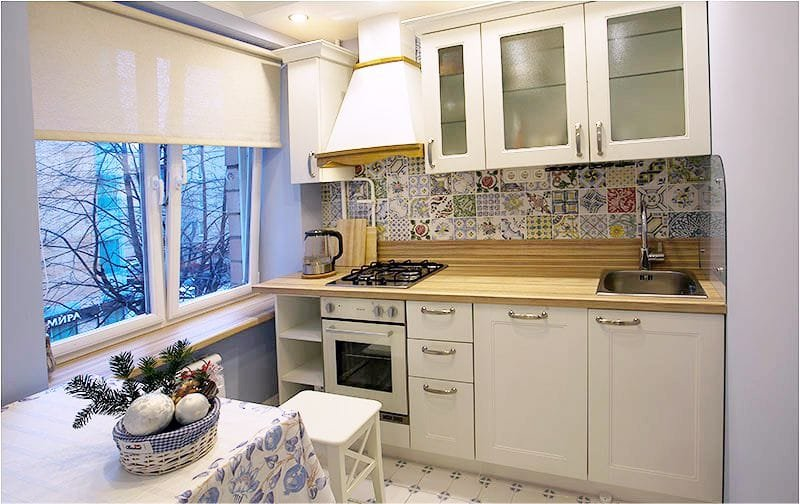 ролл шторы в кухню