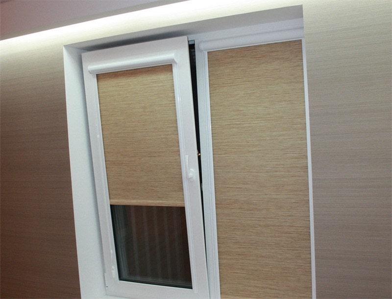 рулонные шторы uni для пластикового окна