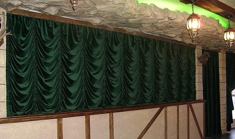 шторы французские из атласной ткани