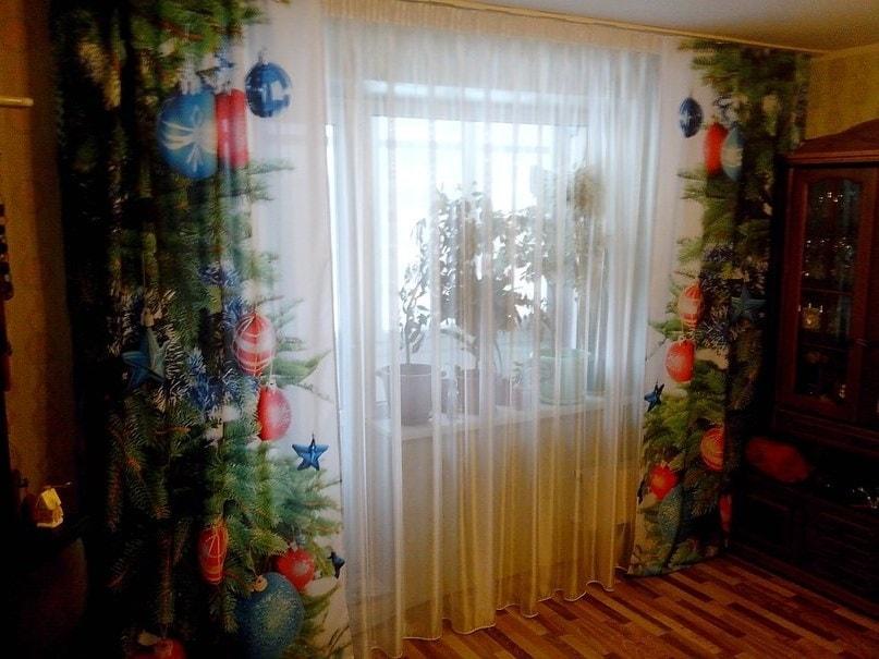 шторы из сатина с фотопечатью