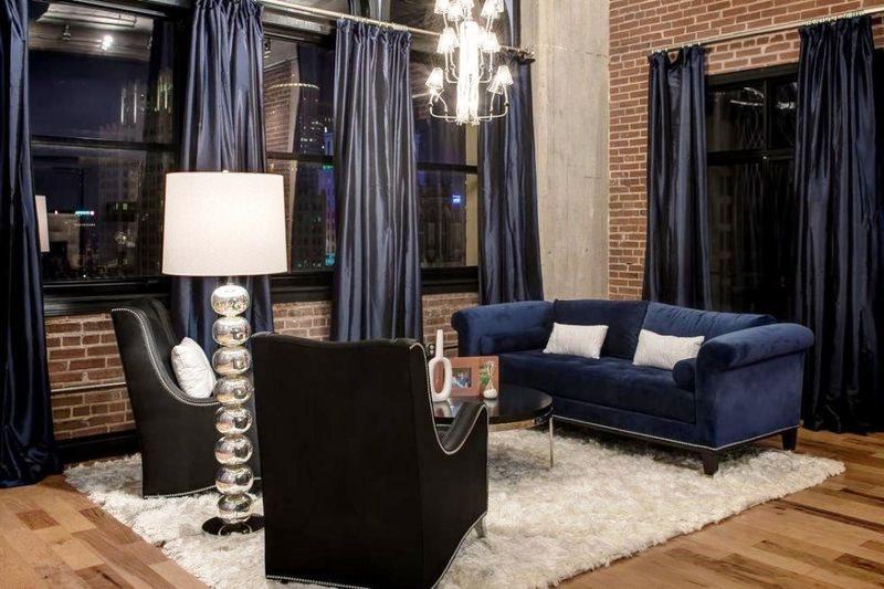 шторы из тафты в современной квартире