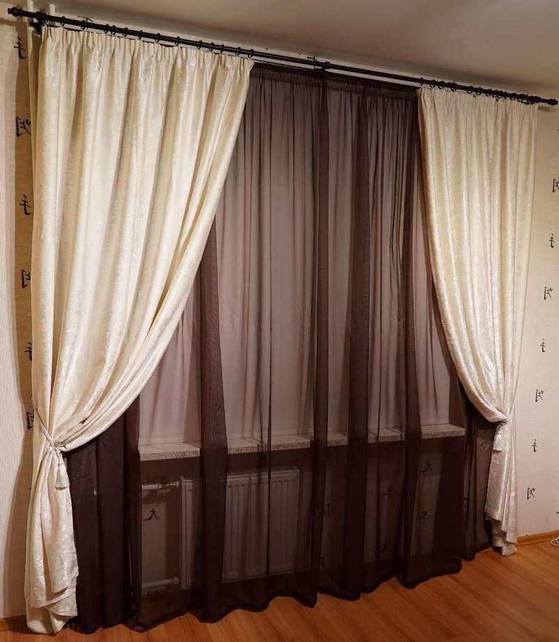 шторы из ткани софт в интерьере гостиной