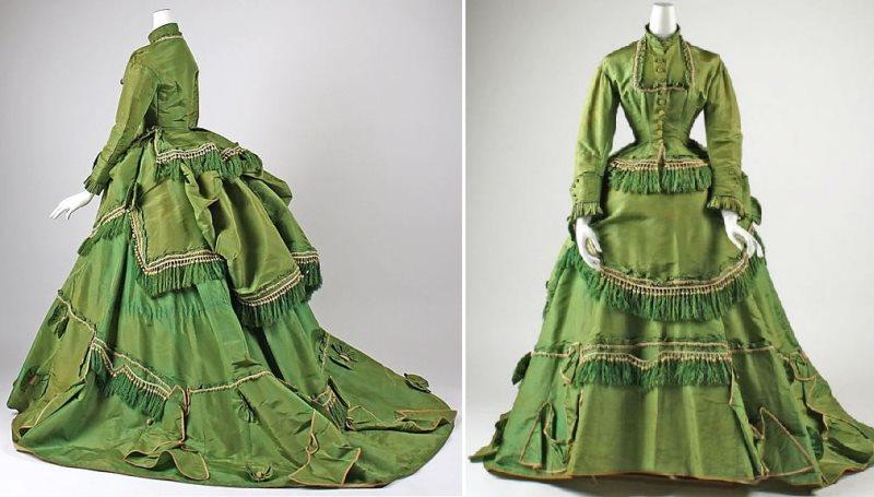 старинное платье из тафты