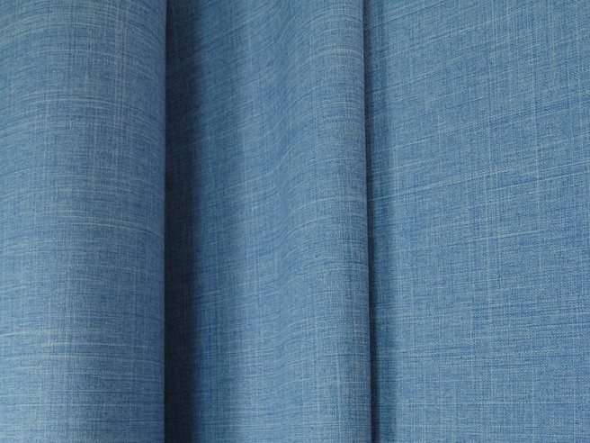 ткань габардин меланж синий