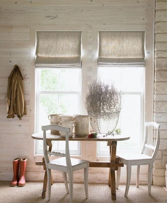 портьеры из льна в скандинавском стиле