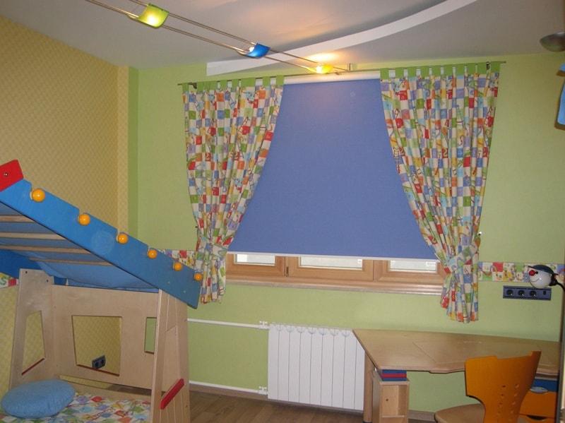рулонки в детской комнате