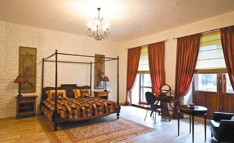 спальня в стиле грандж
